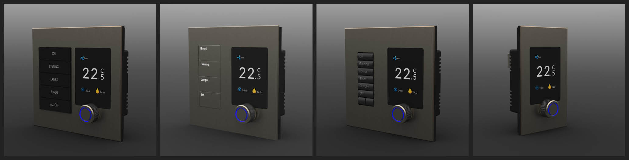 Zentium Thermostat configurations and designs for your home.