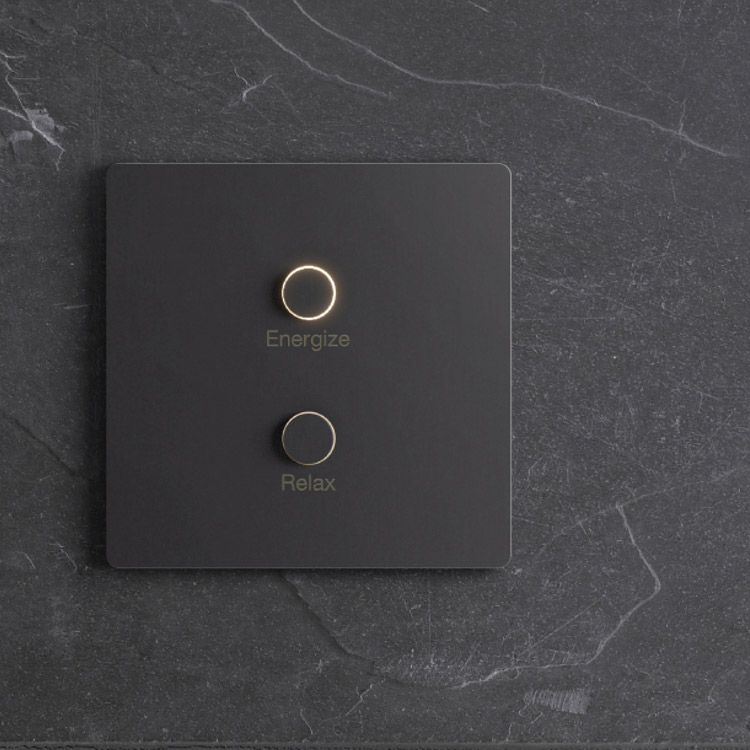 Lutron Alisse with Black metal finish keypad