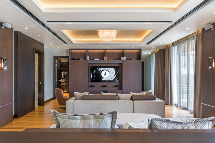 Great interior design with top of the range AV system