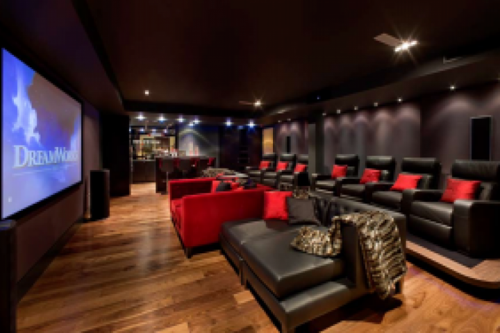 Home cinema in Hampstead villa