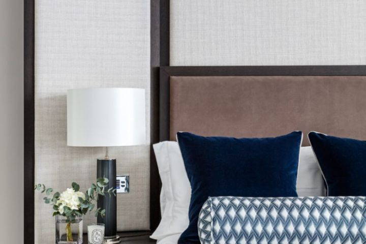 Smart Home Installers London Bedside Table with Lighting Keypad