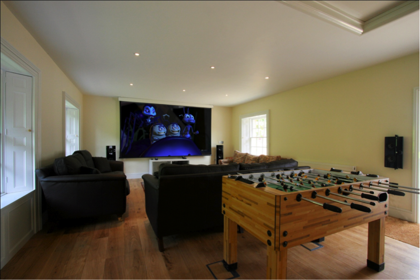 Gaming and cinema room
