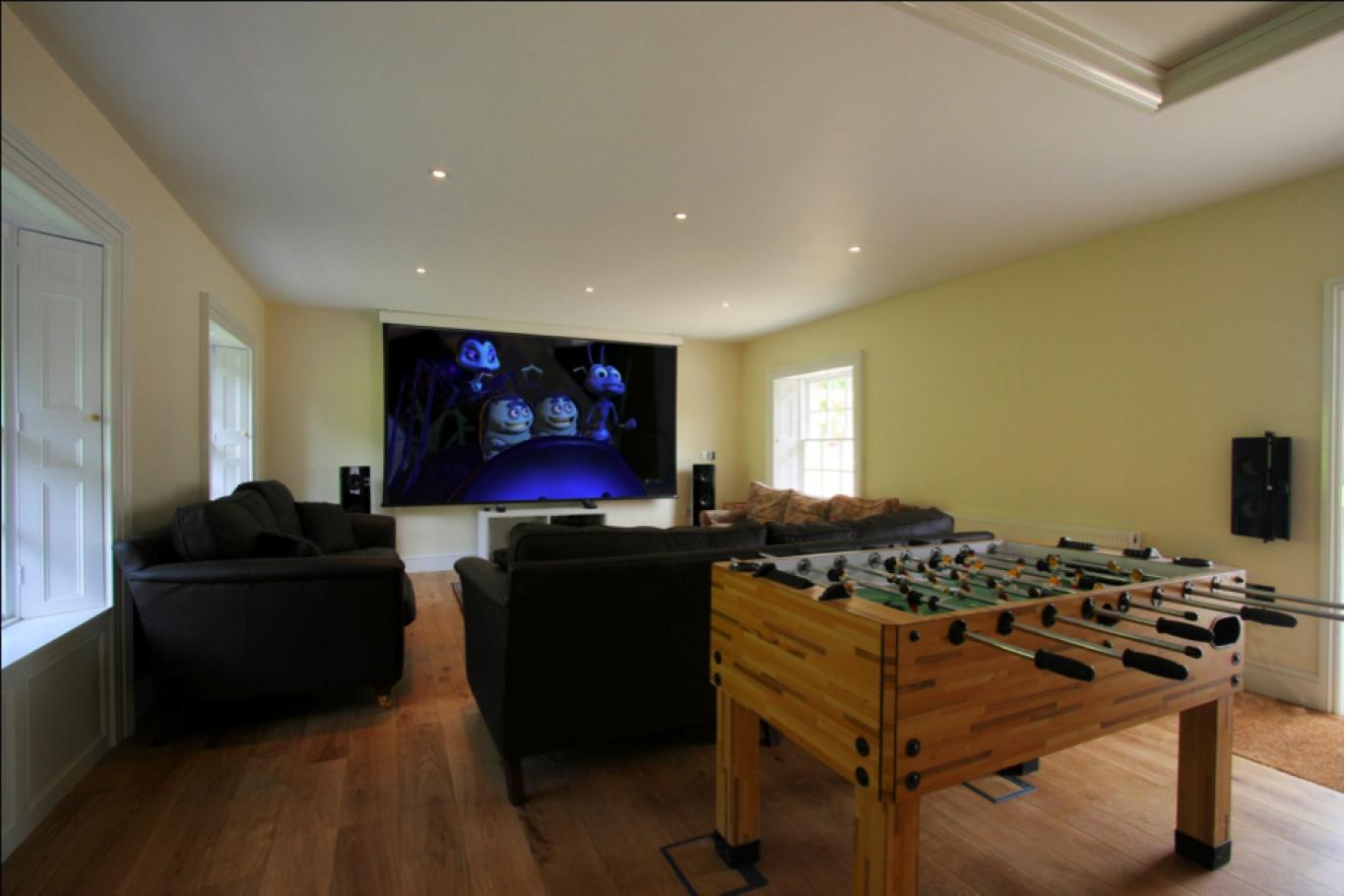 Gaming and cinema room
