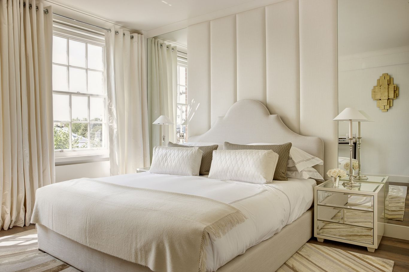 Interior bedroom design with smart features