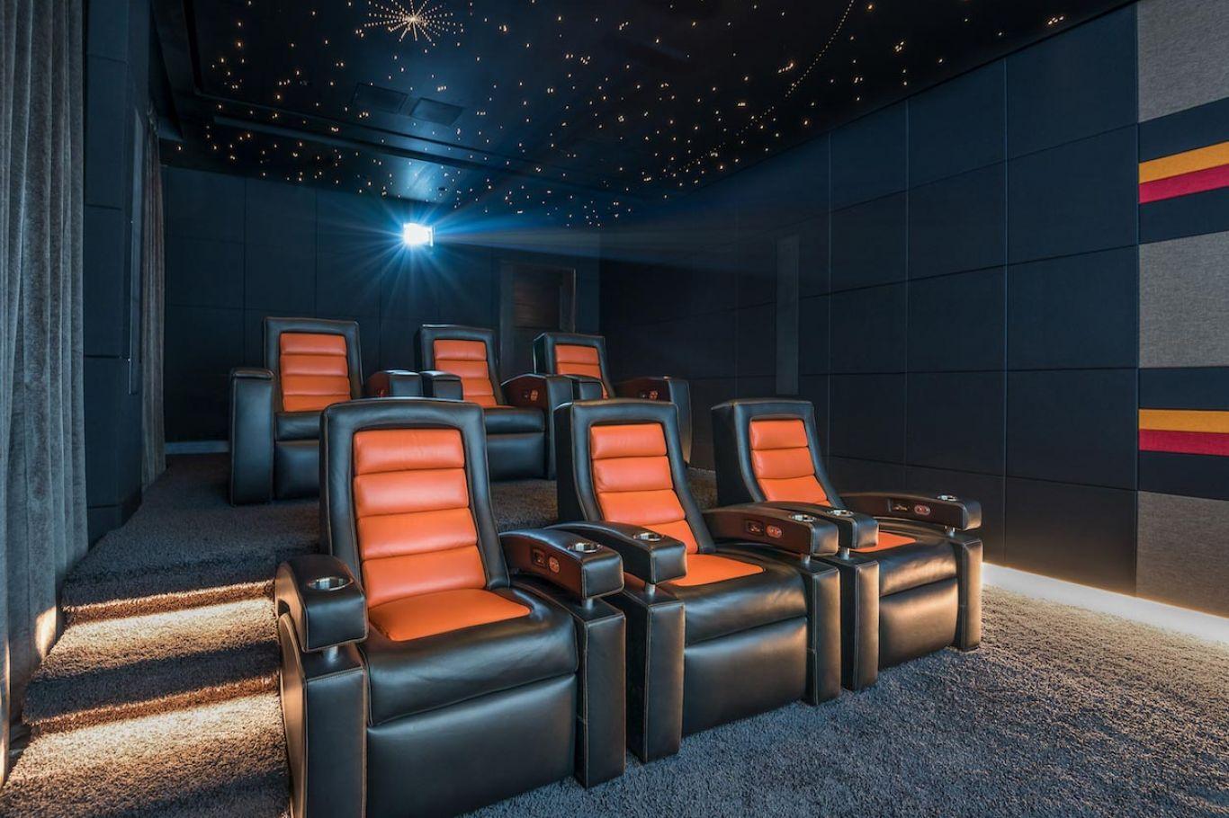 Multi level home cinema