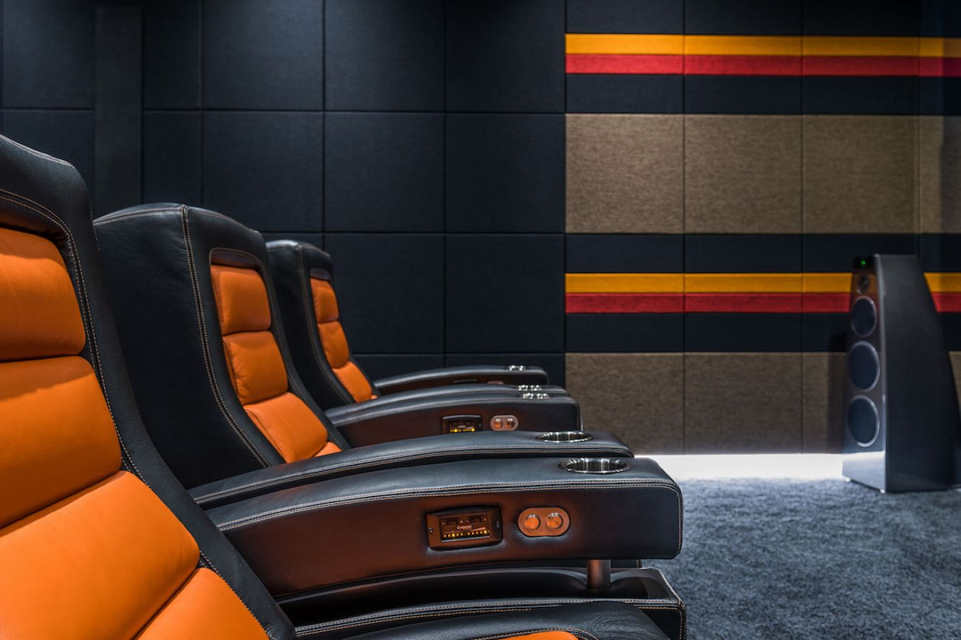 High end, delux home cinema chairs
