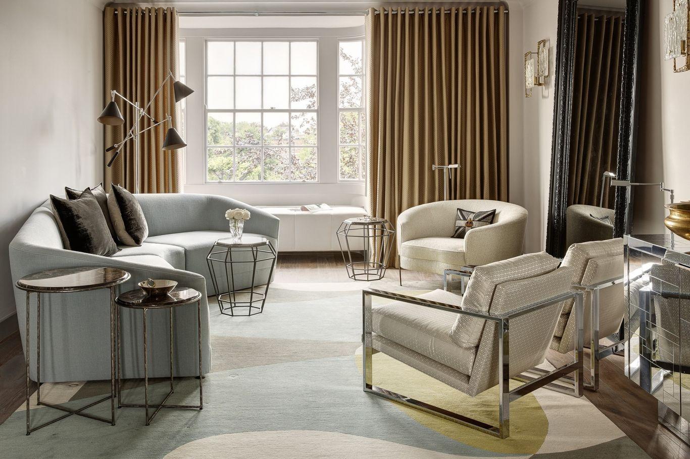 Customised living room with hidden AV system