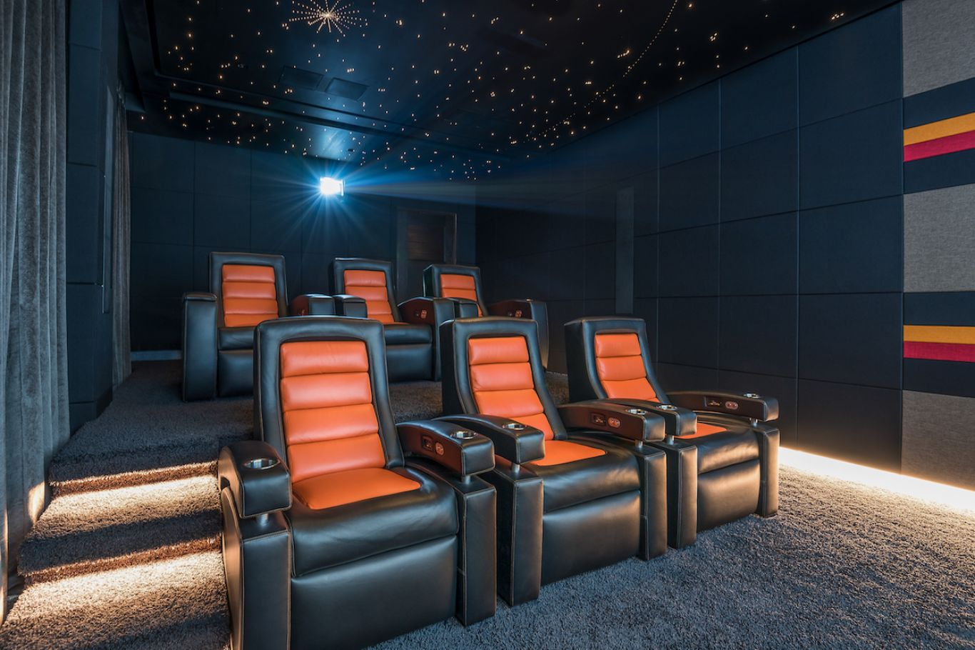 Award winning home cinema theatre